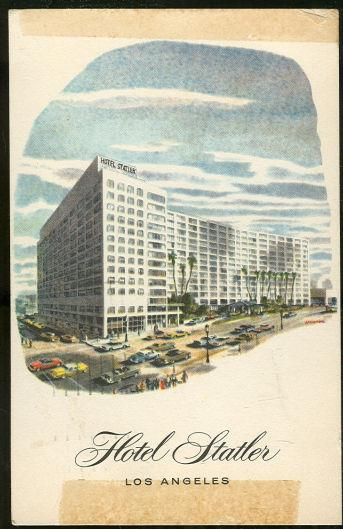 HOTEL STATLER, LOS ANGELES, CALIFORNIA, Postcard