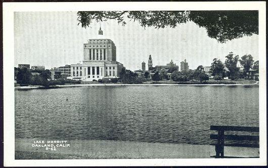 LAKE MERRITT, OAKLAND, CALIFORNIA, Postcard