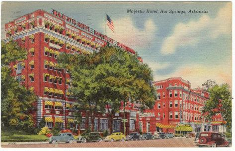 Image for MAJESTIC HOTEL, TOWER AND BATHS, HOT SPRINGS, ARKANSAS