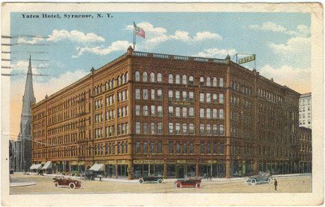 YATES HOTEL, SYRACUSE, NEW YORK, Postcard
