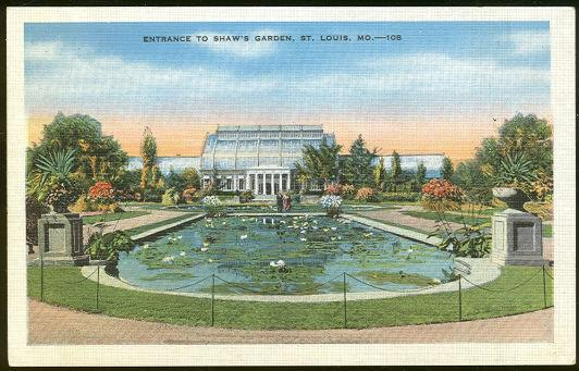 ENTRANCE TO SHAW'S GARDEN, ST. LOUIS,MISSOURI, Postcard