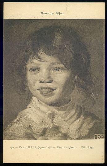 TETE D'ENFANT BY FRANS HALS, Postcard