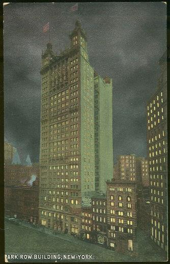 PARK ROW BUILDING, NEW YORK CITY, NEW YORK, Postcard