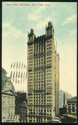 POSTCARD - Park Row Building, New York City, New York