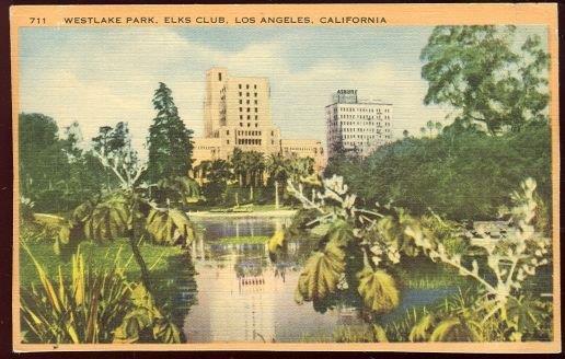 Image for WESTLAKE PARK, ELKS CLUB, LOS ANGELES, CALIFORNIA