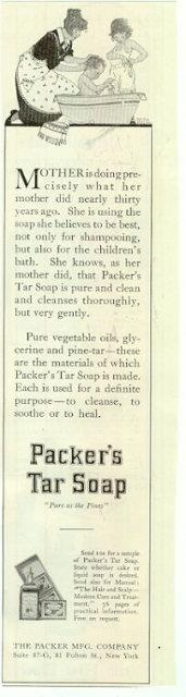 Image for 1915 LADIES HOME JOURNAL PACKER'S TAR SOAP MAGAZINE ADVERTISEMENT
