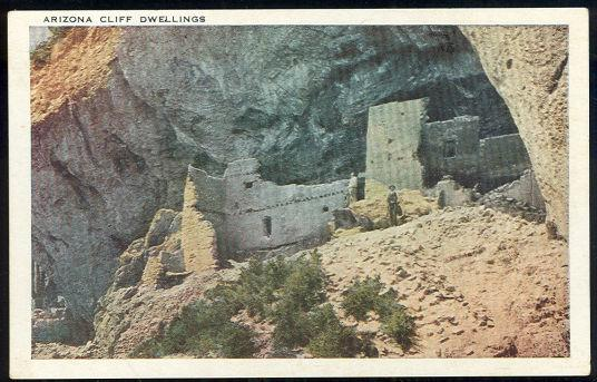 ARIZONA CLIFF DWELLINGS, Postcard