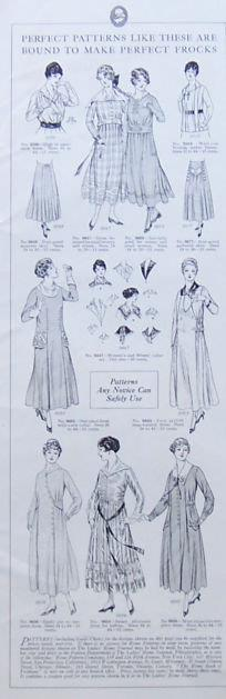 Image for 1917 LADIES HOME JOURNAL PAGE FOR PERFECT PATTERNS FOR PERFECT FROCKS