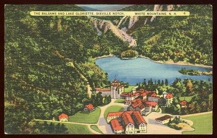 BALSAMS AND LAKE GLORIETTE, DIXVILLE NOTCH, WHITE MOUNTAINS, NEW HAMPSHIRE, Postcard