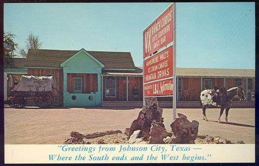 VX RANCH CURIOS, JOHNSON CITY, TEXAS, Postcard