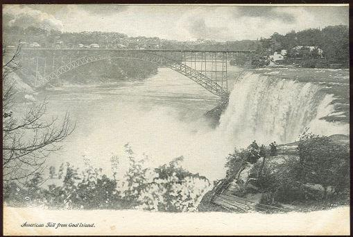 AMERICAN FALLS FROM GOAT ISLAND, Postcard
