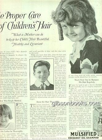 Image for 1921 LADIES HOME JOURNAL WATKINS MULSIFIED COCOANUT OIL SHAMPOO MAGAZINE ADVERTISEMENT