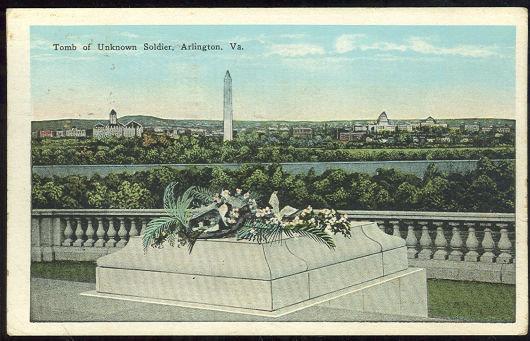 TOMB OF UNKNOWN SOLDIER ARLINGTON, VIRGINIA, Postcard