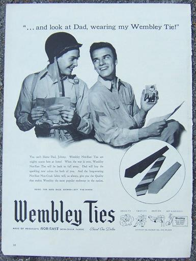 Image for 1944 WEMBLEY NOR-EAST TIES MAGAZINE ADVERTISEMENT