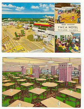 TWO POSTCARDS OF THE YMCA IN CHICAGO, ILLINOIS, Postcard