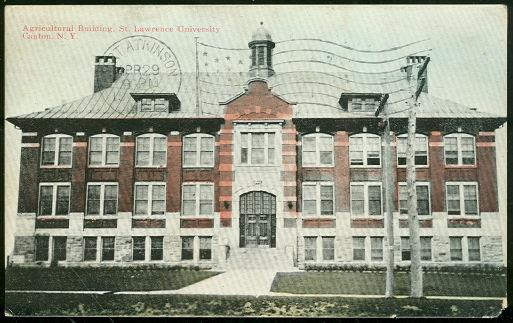 AGRICULTURAL BUILDING, ST. LAWRENCE UNIVERSITY, CANTON, NEW YORK, Postcard