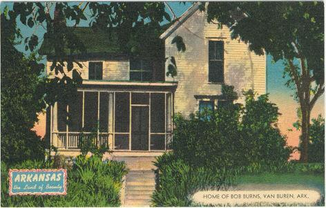 Image for HOME OF BOB BURNS, VAN BUREN, ARKANSAS