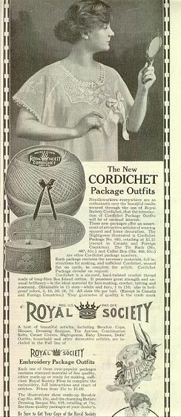 1915 LADIES HOME JOURNAL ROYAL SOCIETY CORDICHET PACKAGE OUTFITS MAGAZINE ADVERTISEMENT, Advertisement