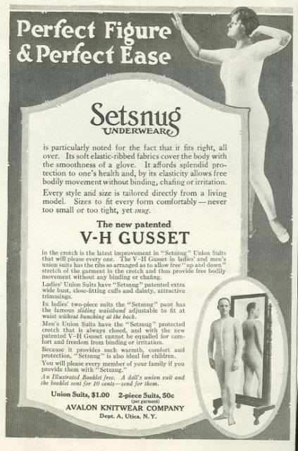 Image for 1916 LADIES HOME JOURNAL SETSNUG UNDERWEAR ADVERTISEMENT