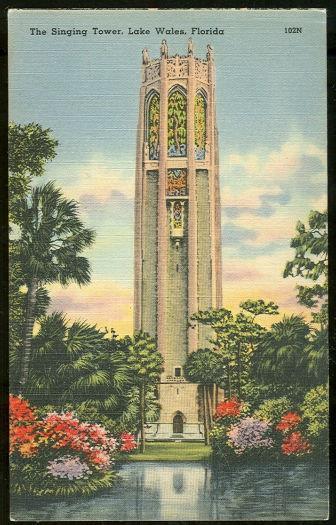 SINGING TOWER, LAKE WALES, FLORIDA, Postcard