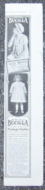 1916 LADIES HOME JOURNAL BUCILLA NEEDLEWORK PRODUCTS MAGAZINE ADVERTISEMENT, Advertisement