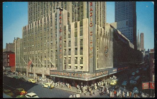 RADIO CITY MUSIC HALL, NEW YORK CITY, Postcard