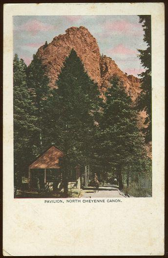 PAVILION, NORTH CHEYENNE CANON, COLORADO SPRINGS, COLORADO, Postcard