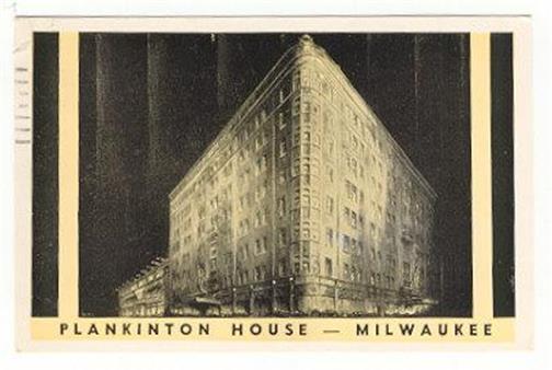 Image for PLANKINTON HOUSE MILWAUKEE, WISCONSIN