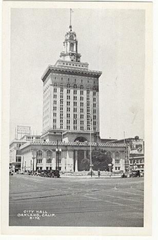 CITY HALL, OAKLAND, CALIFORNIA, Postcard