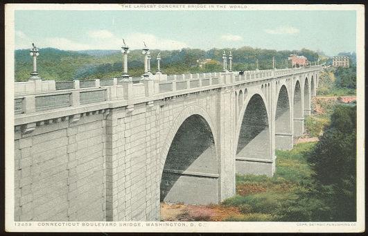 CONNECTICUT BOULEVARD BRIDGE, WASHINGTON D. C., Postcard