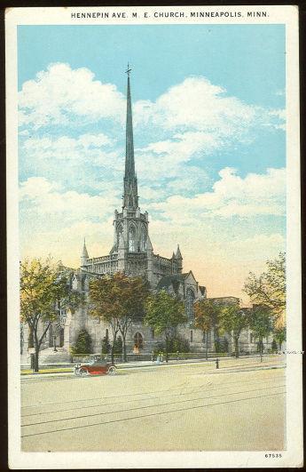 Image for HENNEPIN AVE M.E. CHURCH, MINNEAPOLIS, MINNESOTA