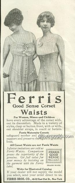 Image for 1917 LADIES HOME JOURNAL FERRIS GOOD SENSE CORSET WAISTS MAGAZINE ADVERTISEMENT
