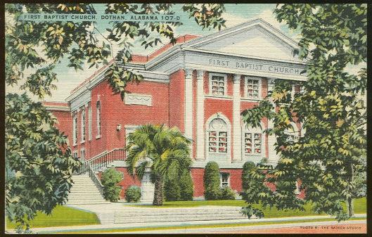 FIRST BAPTIST CHURCH, DOTHAN, ALABAMA, Postcard