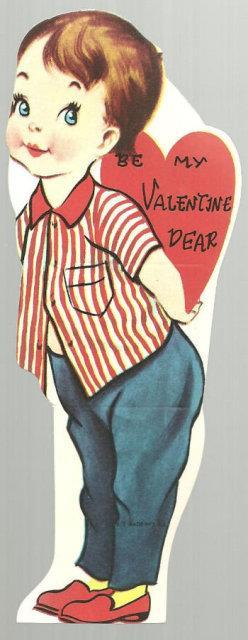 VINTAGE VALENTINE OF LITTLE GIRL BE MY VALENTINE DEAR, Valentine