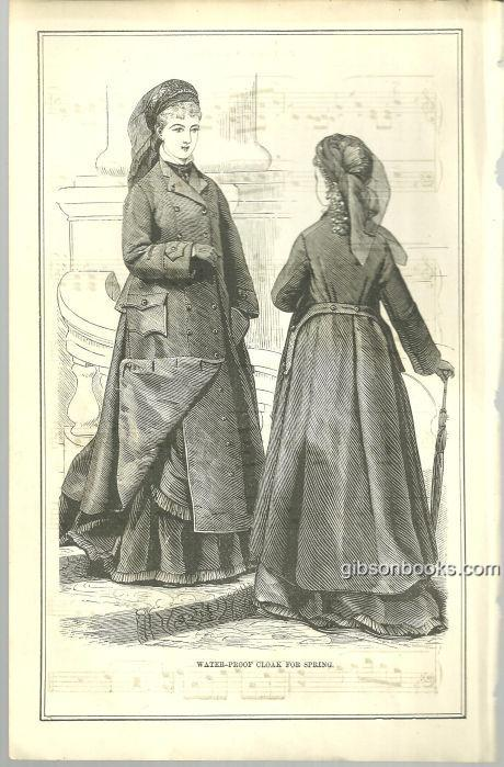 Image for WATERPROOF CLOAK FOR SPRING 1876 PETERSON'S MAGAZINE