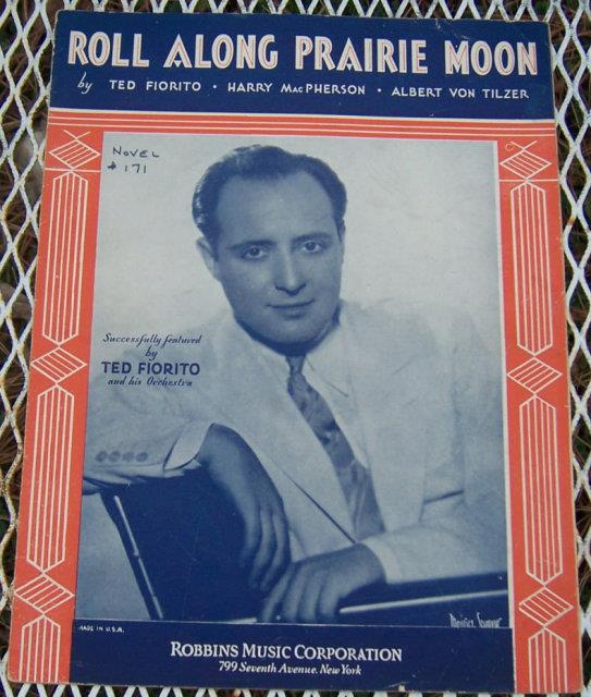 ROLL ALONG PRAIRIE MOON, Sheet Music
