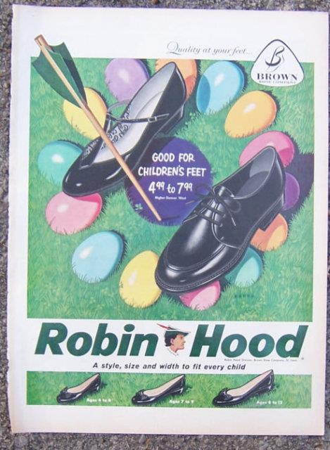 Image for 1959 ROBIN HOOD EASTER SHOES MAGAZINE ADVERTISEMENT