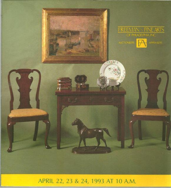 Image for SALE NO. 542 THURSDAY, FRIDAY AND SATURDAY APRIL 22, 23, 24 1993 Antiques, Paintings and Furniture