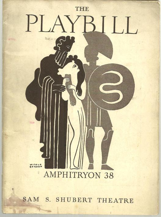 ALFRED LUNT AND LYNN FONTANNE IN AMPHITRYON 38, JANUARY 3, 1938, Playbill