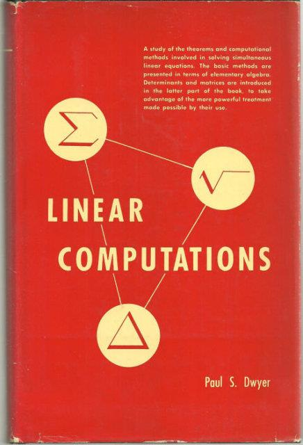 Image for LINEAR COMPUTATIONS