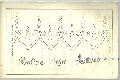 DESIGN FOR EMBROIDERY ON FLANNEL, NAMES FOR MARKING PAGE FROM 1876 PETERSON'S MAGAZINE, Print