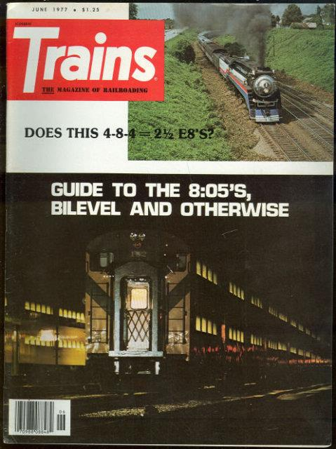 Image for TRAINS, THE MAGAZINE OF RAILROADING JUNE 1977