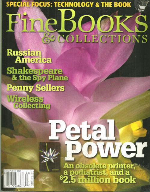 Image for FINE BOOKS AND COLLECTIONS MAGAZINE JULY/AUGUST 2008
