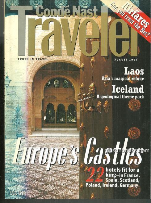 CONDE NAST TRAVELER MAGAZINE AUGUST 1997, Conde Nast