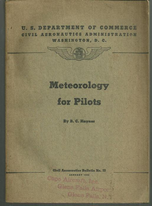 METEOROLOGY FOR PILOTS, Haynes, B. C.