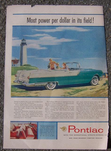 1955 PONTIAC STAR CHIEF LIFE MAGAZINE ADVERTISEMENT, Advertisement