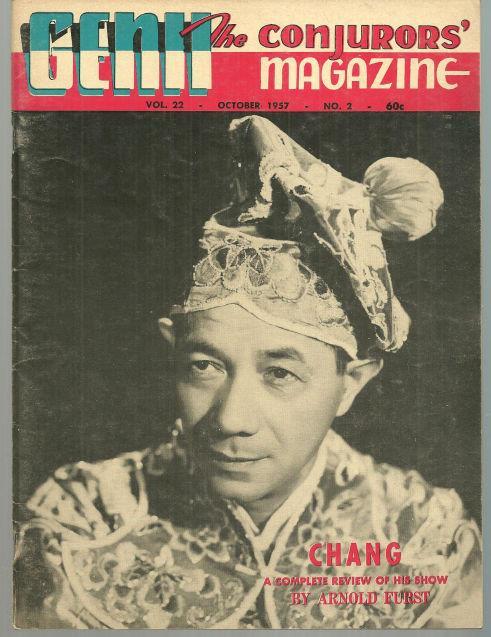 GENII THE CONJURORS' MAGAZINE OCTOBER 1957, Genii Magazine