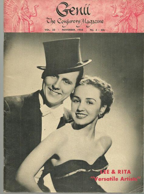 GENII THE CONJURORS' MAGAZINE NOVEMBER 1958, Genii Magazine