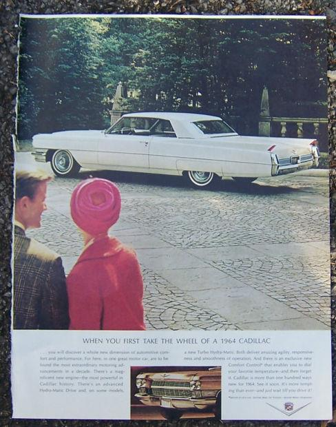 1964 CADILLAC SATURDAY EVENING POST MAGAZINE ADVERTISEMENT, Advertisement