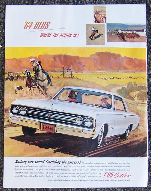 1963 OLDSMOBILE F-85 CUTLASS MAGAZINE ADVERTISMENT, Advertisement
